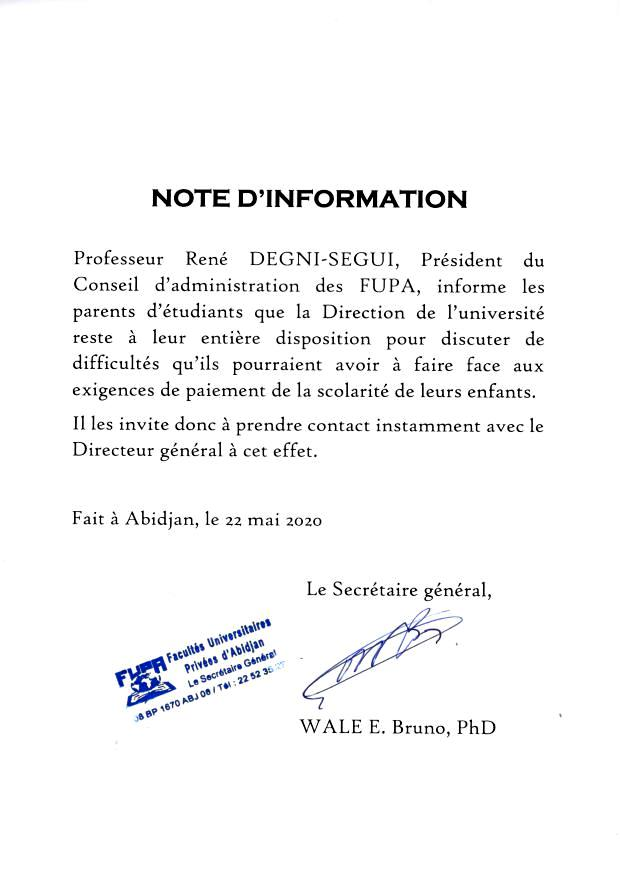 NOTE D'INFORMATION 02
